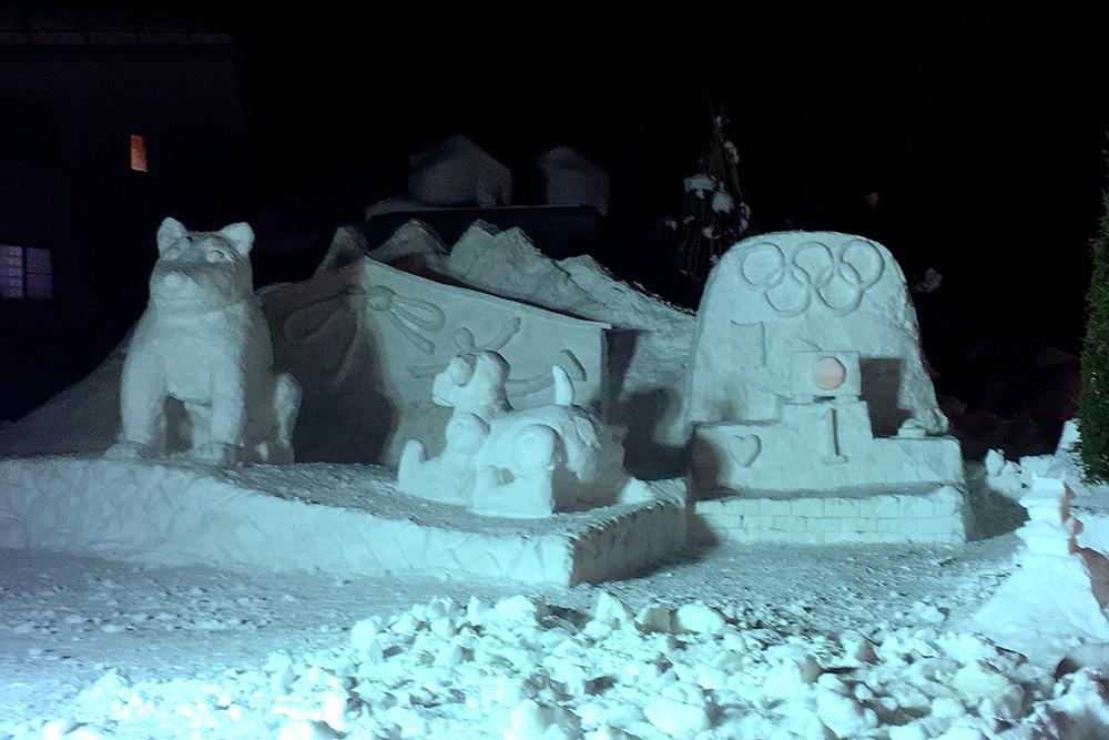 飯山本町商店街 雪像